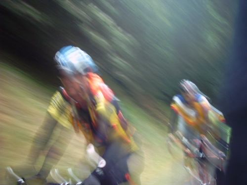 A blurry day on the bike