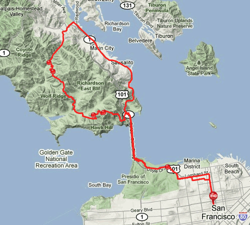Route of my 1st marathon