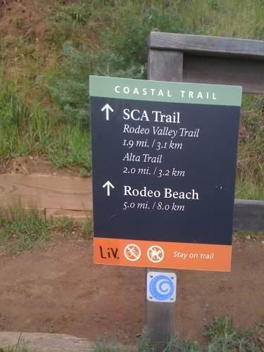 Coastal Trail Sign to SCA trail