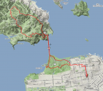 (Apr 2011) Solo marathon route map  » Click to zoom ->