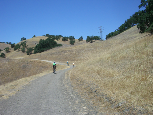 Hot trails of Mt Diablo