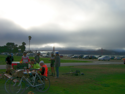 Happy finishers at Crissy Field