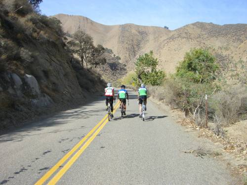Riding the Del Puerto Canyon