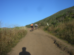 Coastal Trail getting steep  » Click to zoom ->