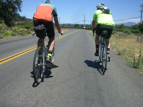 Steffen and Greg on Westside Rd