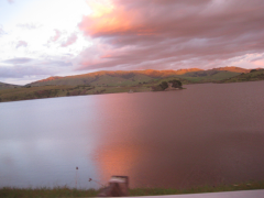 Sunset over Nicasio  » Click to zoom ->