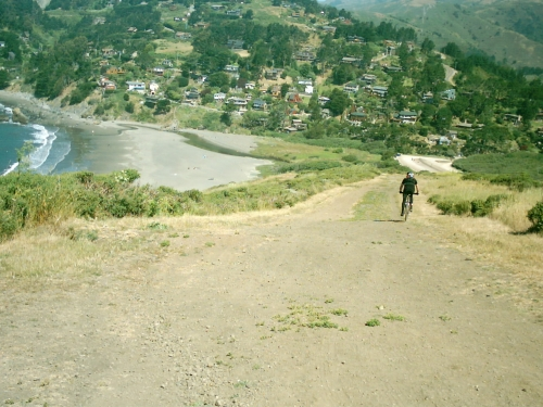 Descending into Muir Beach