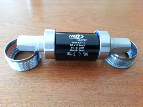 IRD QB-75 Bottom Bracket, cups removed