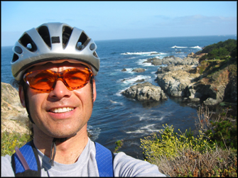 A bad self portrait in Big Sur