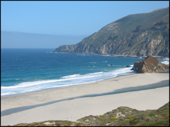 A beach in Big Sur