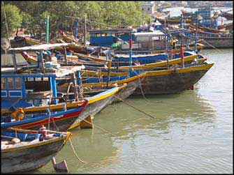 Mui Ne boats at the river